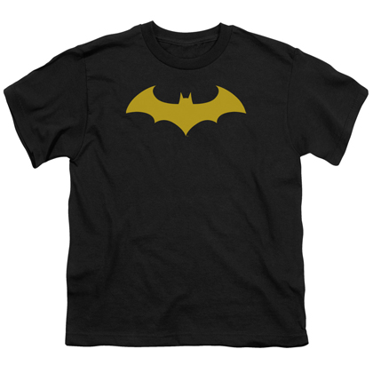 Batman Yellow Hush Logo Youth Tshirt