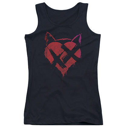 Batman No Heart Black Juniors Tank Top