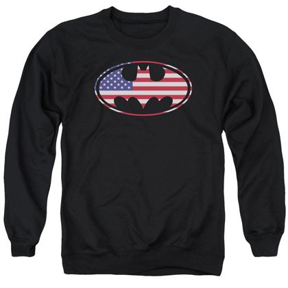 Batman American Flag USA Logo Crewneck Sweatshirt
