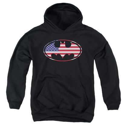 Batman American Flag Youth Hoodie