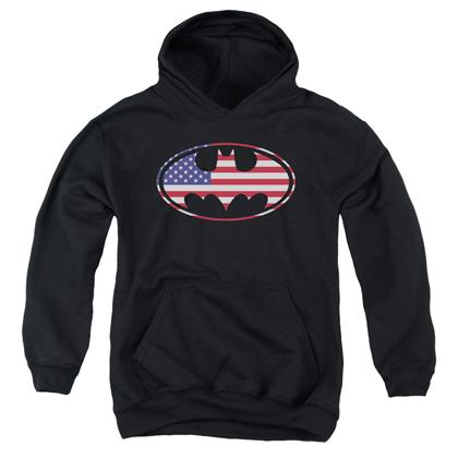 Batman American Flag Youth Hoodie