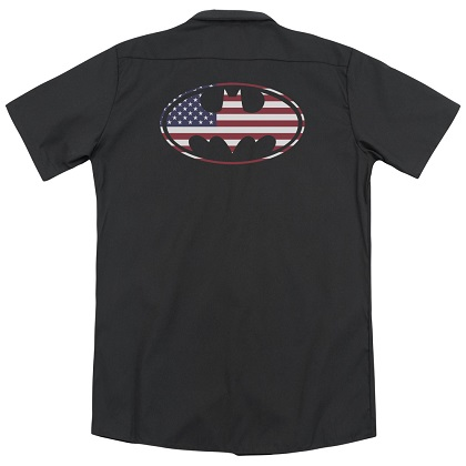 Batman American Flag Logo Work Shirt