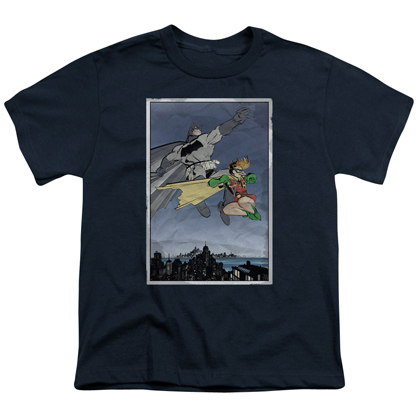 Batman and Robin Comic Youth Tshirt