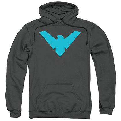 Batman Nightwing Logo Gray Pullover Hoodie
