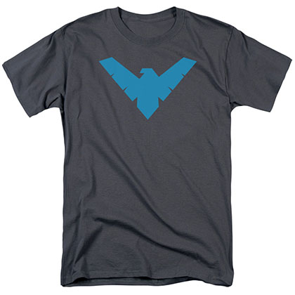 Batman Nightwing Symbol Gray T-Shirt