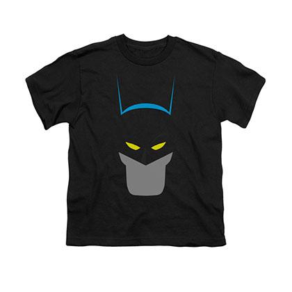 Batman Simplified Face Black Youth Unisex T-Shirt