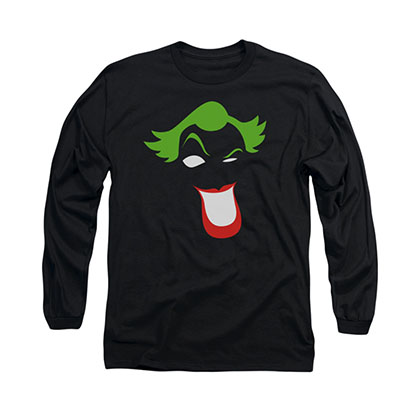 Batman Joker Simplified Black Long Sleeve T-Shirt