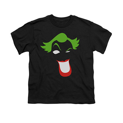 Batman Joker Simplified Black Youth Unisex T-Shirt