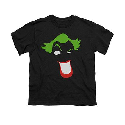 Batman Joker Simplified Black Youth Unisex T-Shirt