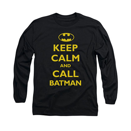 Batman Keep Calm Black Long Sleeve T-Shirt