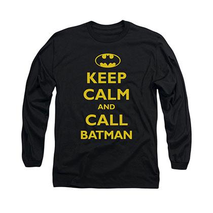 Batman Keep Calm Black Long Sleeve T-Shirt