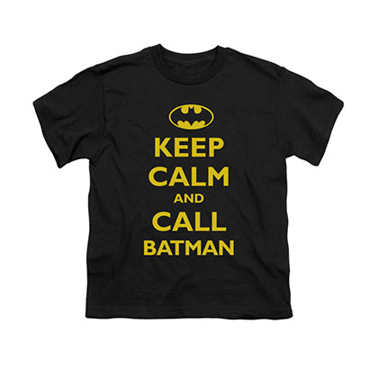 Batman Keep Calm Black Youth Unisex T-Shirt