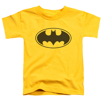 Batman Logo Toddlers Yellow Tshirt