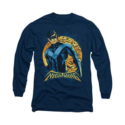Batman Nightwing Moon Blue Long Sleeve T-Shirt