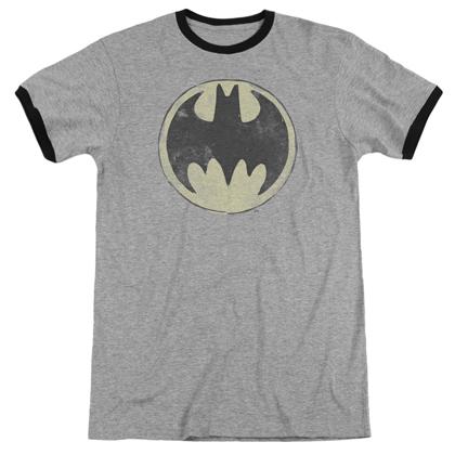 Batman Vintage Logo Ringer Tshirt