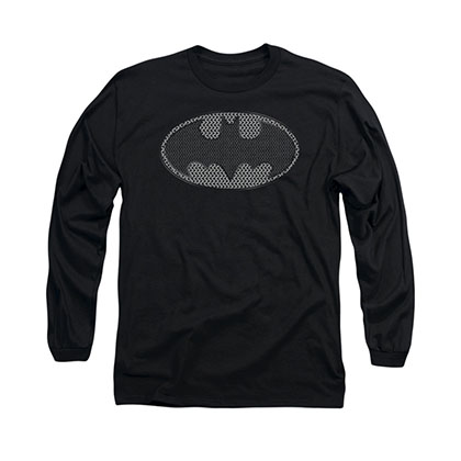 Batman Chainmail Shield Black Long Sleeve T-Shirt