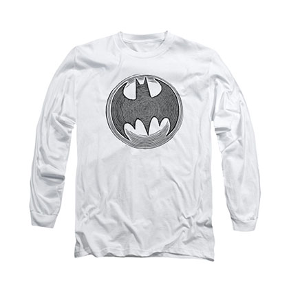 Batman Knight Knockout White Long Sleeve T-Shirt