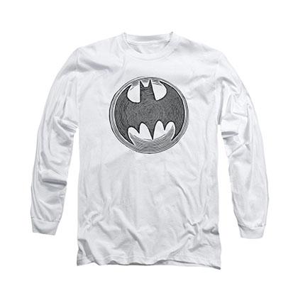 Batman Knight Knockout White Long Sleeve T-Shirt