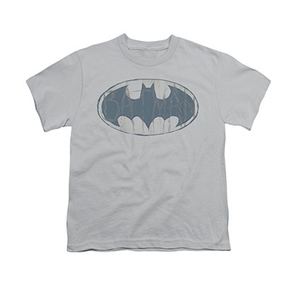Batman Water Sketch Gray Youth Unisex T-Shirt