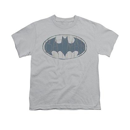 Batman Water Sketch Gray Youth Unisex T-Shirt