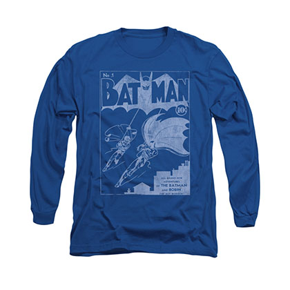 Batman Issue 1 Cover Blue Long Sleeve T-Shirt