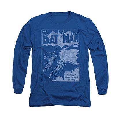Batman Issue 1 Cover Blue Long Sleeve T-Shirt