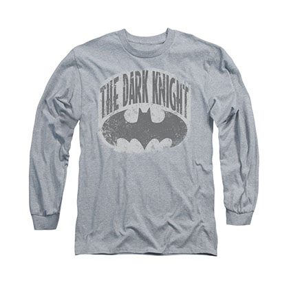 Batman Dark Knight Shield Gray Long Sleeve T-Shirt