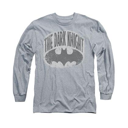Batman Dark Knight Shield Gray Long Sleeve T-Shirt