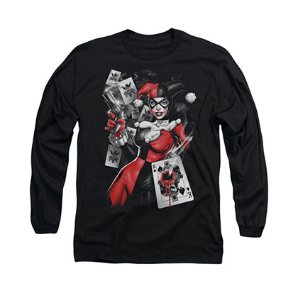 Batman Harley Quinn Smoking Gun Long Sleeve T-Shirt