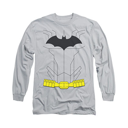 Batman New Batman Costume Gray Long Sleeve T-Shirt