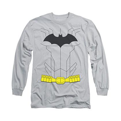 Batman New Batman Costume Gray Long Sleeve T-Shirt