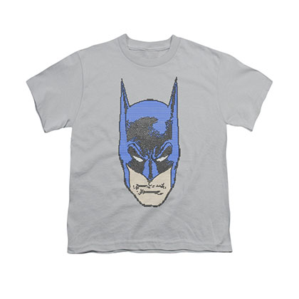 Batman Bit-Man Gray Youth Unisex T-Shirt