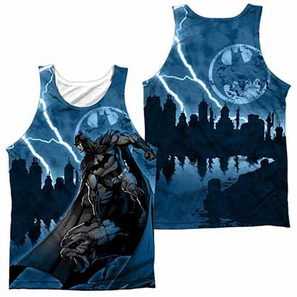 Batman Lightning Strikes Sublimation Tank Top