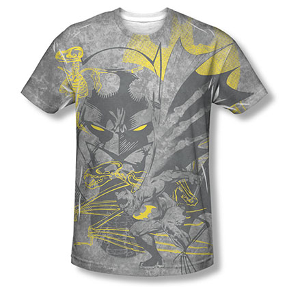 Batman Symbiotic Sublimation Gray Tee Shirt