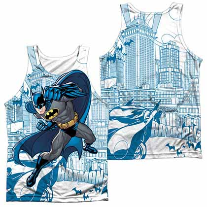 Batman Skyline All Over Sublimation Tank Top