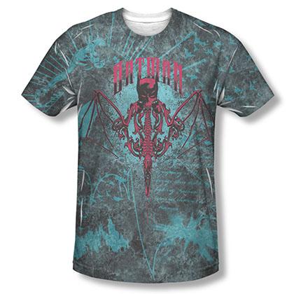 Batman Carpe Nocturn Blue Sublimation Tee Shirt