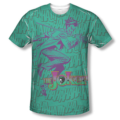 Batman Joker Merriment Sublimation Green T-Shirt