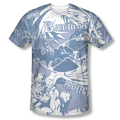 Batman Dark Protector Sublimation Blue Tee Shirt