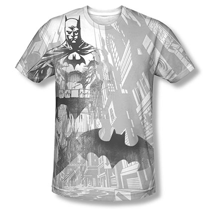 Batman Sublimation White Viligance Tee Shirt