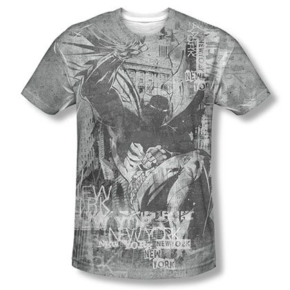 Batman Knight Life Sublimation Gray Tee Shirt