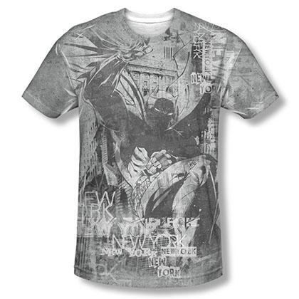 Batman Knight Life Sublimation Gray Tee Shirt