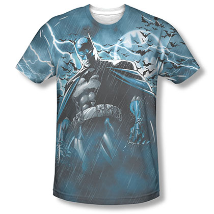 Batman Stormy Knight Sublimation Blue T-Shirt