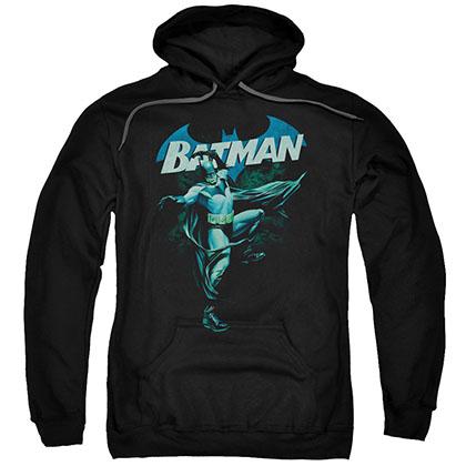 Batman Shaded Bat Black Pullover Hoodie