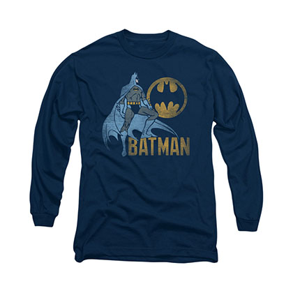 Batman Knight Watch Blue Long Sleeve T-Shirt