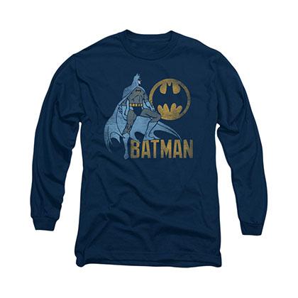 Batman Knight Watch Blue Long Sleeve T-Shirt