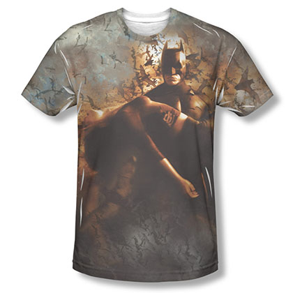 Batman Begins Carried Away Sublimation Tee Shirt