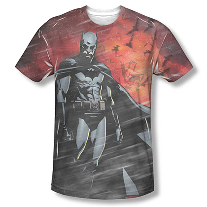 Batman Begins Red Frenzy Sublimation Tee Shirt
