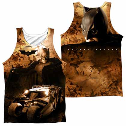 Batman Begins Batsmobile Sublimation Tank Top