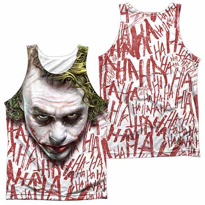 Batman Dark Knight Joker Face Sublimation Tank Top