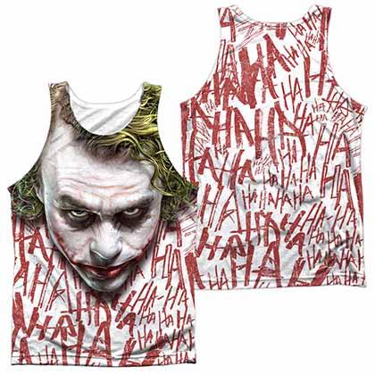Batman Dark Knight Joker Face Sublimation Tank Top
